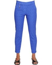 Incotex - Kayle Cotton Jacquard Trousers - Lyst