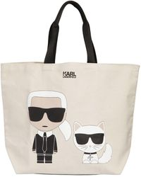 Karl Lagerfeld - K/ikonik Cotton Canvas Tote Bag - Lyst