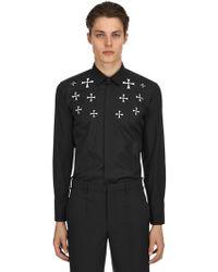 Neil Barrett - Stars Printed Cotton Poplin Shirt - Lyst