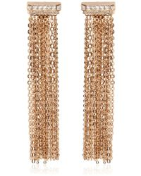 Lanvin - Chain Fringed Clip-on Earrings - Lyst