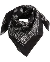 Saint Laurent - Bandana In Cotone - Lyst