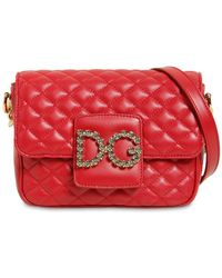 e1870f0cd241 Lyst - Dolce   Gabbana Small Millennial Quilted Leather Bag in Black