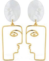 Nina Kastens Jewelry The Face Earrings