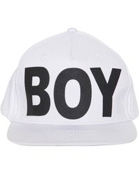Lyst - Boy London Cappello In Tela Di Cotone in Black for Men 4c117b2eca76