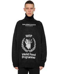 "Balenciaga - Wollpullover ""world Food Program"" - Lyst"