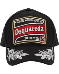 DSquared² - Patch & Embroidery Cotton Baseball Hat - Lyst
