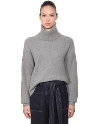 Tory Burch - Oversized Wool Blend Turtleneck - Lyst