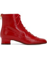 L'Autre Chose - 35mm Lace-up Leather Ankle Boots - Lyst