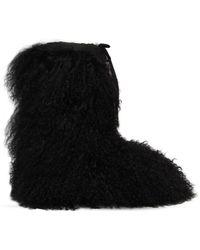 Chiara Ferragni - 20mm Mongolian Fur Snow Boots - Lyst