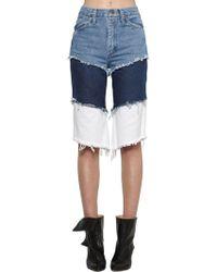Natasha Zinko - Wrangler High Waisted Layered Denim Shorts - Lyst