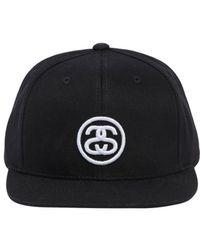 Stussy - Ss Link Logo Sp18 Cotton Baseball Hat - Lyst