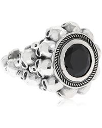Cantini Mc Firenze - Black Round 3d Skulls Ring - Lyst