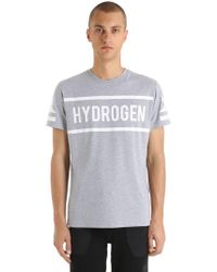 Hydrogen - Icon Logo Printed Cotton Jersey T-shirt - Lyst