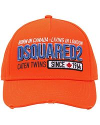 DSquared² - Embroidered & Printed Cotton Canvas Hat - Lyst