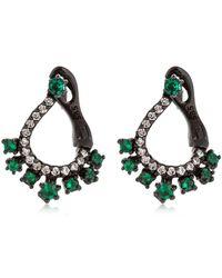 Colette - Diamond & Emerald Earrings - Lyst
