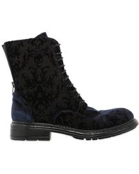 FRU.IT - 20mm Printed Velvet Lace Up Ankle Boots - Lyst