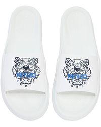KENZO - Tiger Rubber Slide Sandals - Lyst
