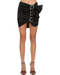 Alexandre Vauthier - Stretch Silk Satin Skirt W/ Buckles - Lyst