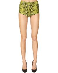 Jeremy Scott - Piton Printed Leather Shorts - Lyst