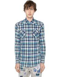DSquared² - Camicia Western In Cotone Check - Lyst