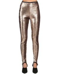 Stella Jean - Sequined Stretch Stirrup Leggings - Lyst
