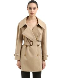 Burberry | Fourteen Gall Cotton Short Trench Coat | Lyst