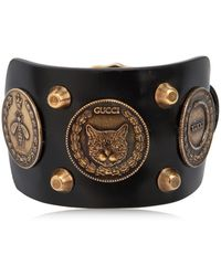 Gucci - Coins Leather Bracelet - Lyst