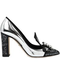 Dolce & Gabbana - 90mm Graffiti Mirror Leather Court Shoes - Lyst