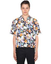 Prada - Bowlinghemd Mit Blumendruck - Lyst