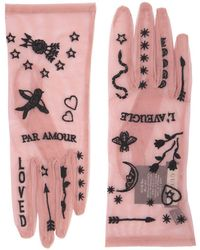 Gucci - Mesh Gloves With Tattoo - Lyst