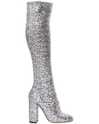Dolce & Gabbana - 90mm Stretch Sequins Over The Knee Boots - Lyst