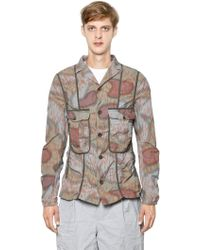 Kolor - Printed Wrinkled Cotton Poplin Jacket - Lyst