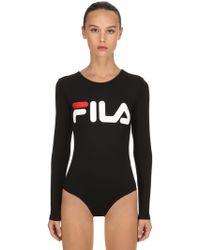 d6b22edbe8 Nina Ricci Lace Stretch Sheer Bodysuit in Gray - Lyst