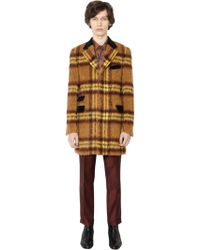 Lords & Fools - Checked Mohair & Alpaca Blend Coat - Lyst