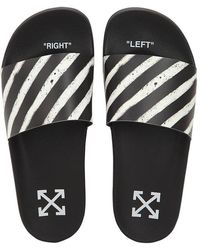 47f6db4188da Off-White c o Virgil Abloh - Spray Stripes Slide Sandals - Lyst