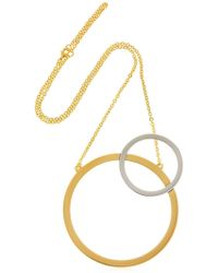Vita Fede - Sole Two-tone Circle Necklace - Lyst