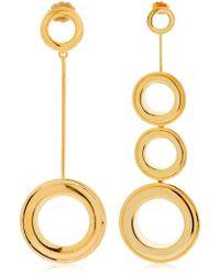 Joanna Laura Constantine - Asymmetrical Grommet Earrings - Lyst