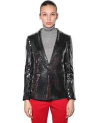 Marco De Vincenzo - Sequined Blazer Jacket - Lyst
