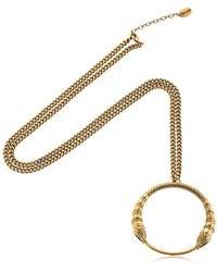 Roberto Cavalli - Snake Pendant Necklace - Lyst