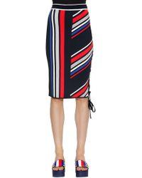 5db0b468 Tommy Hilfiger - Gigi Hadid Striped Intarsia Knit Skirt - Lyst