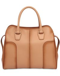 Tod's - Small Sella Antiqued Soft Leather Bag - Lyst