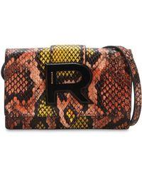 Rochas - Snake Printed Leather Shoulder Bag - Lyst