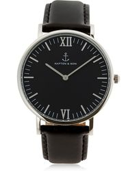 KAPTEN & SON - 40mm Leather Watch - Lyst