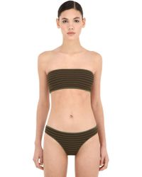 Laura Urbinati - Intimo Striped Knit Bandeau Bikini - Lyst