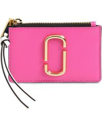 Marc Jacobs - Leather Top Zip Card Holder - Lyst