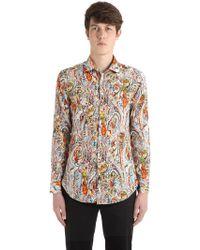 Etro - Enges Hemd Aus Baumwolle Mit Paisleydruck - Lyst