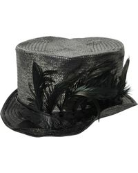 Move | Feather Woven Straw Top Hat | Lyst