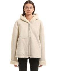 Yeezy - Hooded Shearling Jacket - Lyst