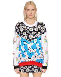 Au Jour Le Jour - Floral Patchwork Cotton Sweatshirt - Lyst