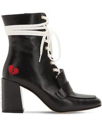 HAVVA - 75mm Xo Leather Lace-up Boots - Lyst